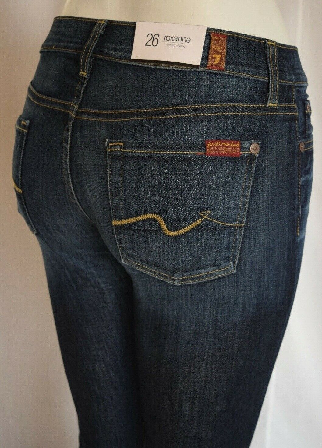 NEW Seven 7 For All Mankind ROXANNE Skinny Jean Woman 26 NOUVEAU NEW YORK DARK