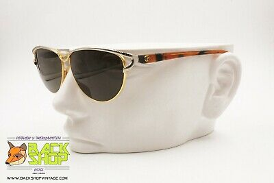Nazareno Gabrielli Vintage 80s Sunglasses Women Ladies, Engraved Rims Perimeter