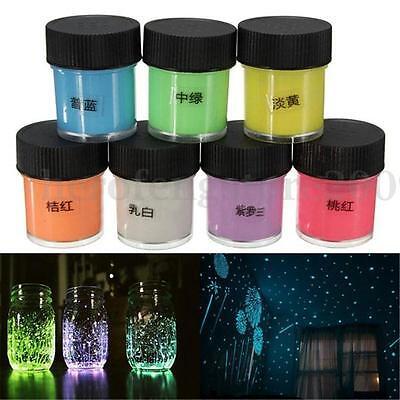 7 Color Pigment Powder Glow In The Dark Luminous Night Varnish Painting 3D Art
