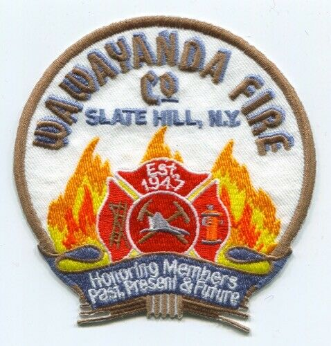 Wawayanda Fire Company Patch New York NY SKU238
