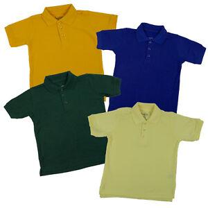 e6ab47ad9 Toddlers Unisex Pique Polo Boys & Girls Classic Uniform Short Sleeve ...