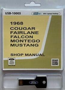 1968 mustang shop manual free download