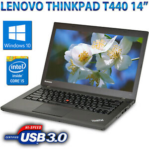 Notebook-Tragbar-Aufbereitet-Lenovo-T440-14-034-Core-i5-4300U-4GB-HDD