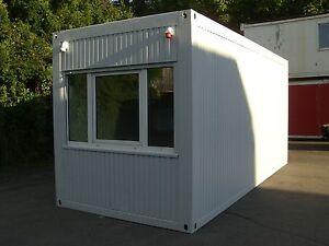 b rocontainer 6m x 2 5m wohncontainer baucontainer container bau ebay. Black Bedroom Furniture Sets. Home Design Ideas