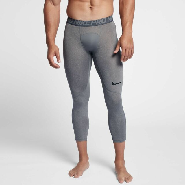 Nike Pro 3//4 Compression Tights Pants white Men/'s Size L Large 838055 100  NWT
