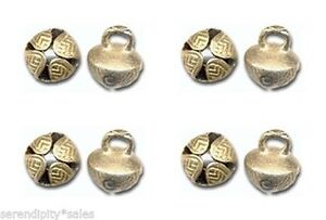 50-Solid-BRASS-JINGLE-BELLS-19mm-3-4-034-Beads-Crafts-Sturdy-Design-Nice-Ring