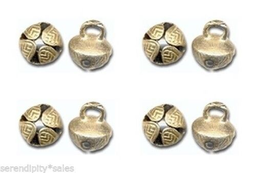 """50 Solid  BRASS JINGLE BELLS 19mm 3//4/"""" Beads Crafts ~ Sturdy Design ~ Nice Ring"""