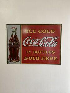 Coca Cola Vintage Garage Old Advertising Drink Man cave Bar Cafe Metal Tin Sign