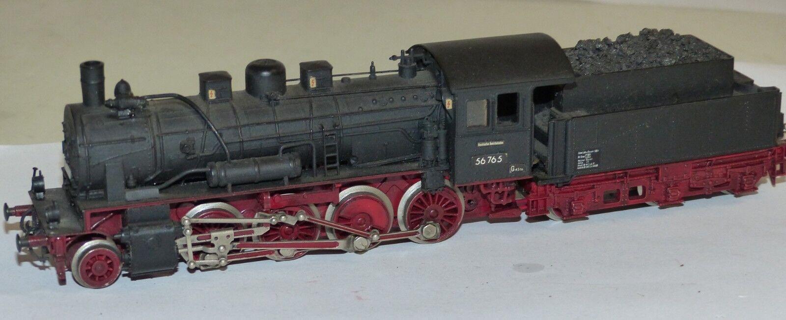 Liliput Dampflok BR BR BR 56 765 DR Spur H0 1 87  gealtert Dampflokomotive Lok a116af