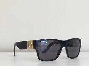 e32a59894b Versace MOD 4296 GB1 81 Rectangle Black Gray Gold Polarized ...