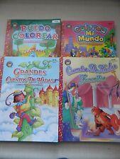 Spanish Coloring Books, Lot of 4 / Libros Para Colorear Españoles, Muchos de 4