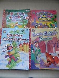 Spanish Coloring Books, Lot of 4 / Libros Para Colorear Españoles ...