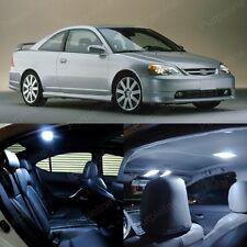 8 x White LED Lights Interior Package For Honda CIVIC 2001 - 2005 Coupe Sedan