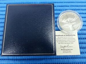 1994-Singapore-Asian-Aerospace-Sterling-Silver-Proof-Medallion