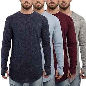 30f22466 Phoenix Oversized Long Sleeve T-Shirt Men's Top Longshirt Longline ...