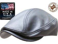 Genuine Leather Flat Ivy Cap Men s Newsboy News Boy Gatsby Bonnet Cabbie  Golf f3b1a5e880ee