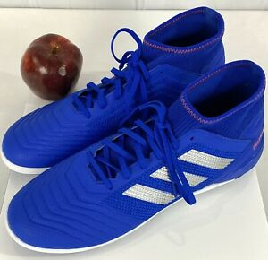 NEW-ADIDAS-Predator-19-3-Turf-Casual-Soccer-Cleats-Blue-Men-s-Size-11