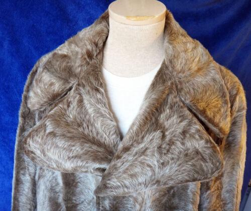 Faux Fur Skin Vegan 1940 1950 Trench Pea Seal Long Herenjas Vintage Jacket Mink TlF1J3Kc