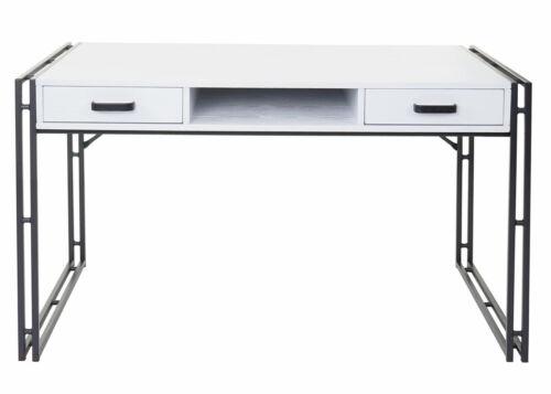 weiß 121x70cm 3D-Struktur Schreibtisch MCW-A27 Bürotisch Computertisch