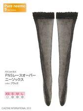 Azone Pureneemo Lace Overknee Socks Black Blythe Momoko Doll Pullip 1/6 Obitsu