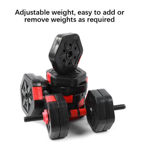 25kg Hex Hantelset Hanteln Set Hantel Gewichten 25 cm Verbindungsstange Gummi