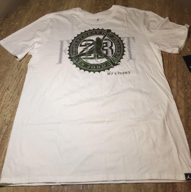 NIKE Men/'s Jordan Pure Money Bank Note T-shirt NEW 844290 Black White 100/%Cotton