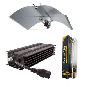 Hydroponic-X-LARGE-Adjustable-Shade-Wing-Lumii-Black-HPS-Dual-Digital-Light-Kit