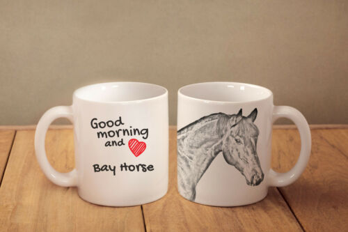"Bay Horse ceramic cup, mug ""Good morning and love"",UK"