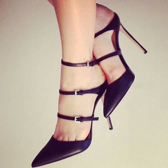 Wouomo Stilettos High Heels Buckle Belt Evening Party Pointed Toe Sexy scarpe Sz