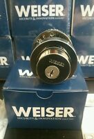 Weiser Security Single Cylinder Deadbolt, Polished Chrome