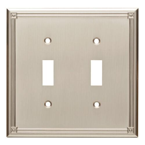 Brainerd W16045-SN Ruston Satin Nickel Double Switch Wall Cover Plate
