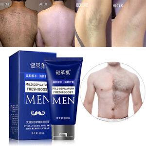 60ml Permanent Hair Removal Cream Facial Pubic Beard Depilatory Paste For Men Ebay