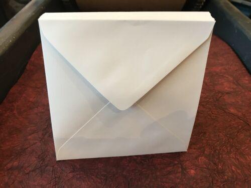 100 Pack 140mm X 140mm Cuadrada Sobres Blanco 14cm X 14cm 100gsm Solapa de diamante