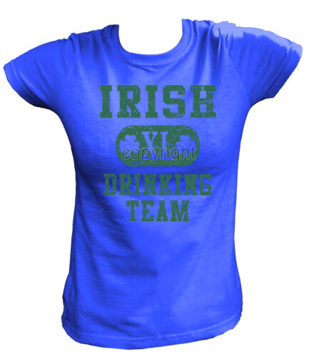 Damen T-Shirt 11375 IRISH XL DRINKING TEAM St Patrick's Day Shamrock Party