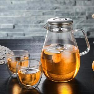 with-Stainless-Steel-Lid-Filter-1900ml-Glass-Pitcher-Jug-Water-Juice-Tea-Carafe