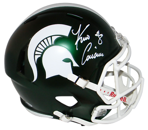 KIRK-COUSINS-AUTOGRAPHED-MICHIGAN-STATE-SPARTANS-FULL-SIZE-SPEED-HELMET-BECKETT