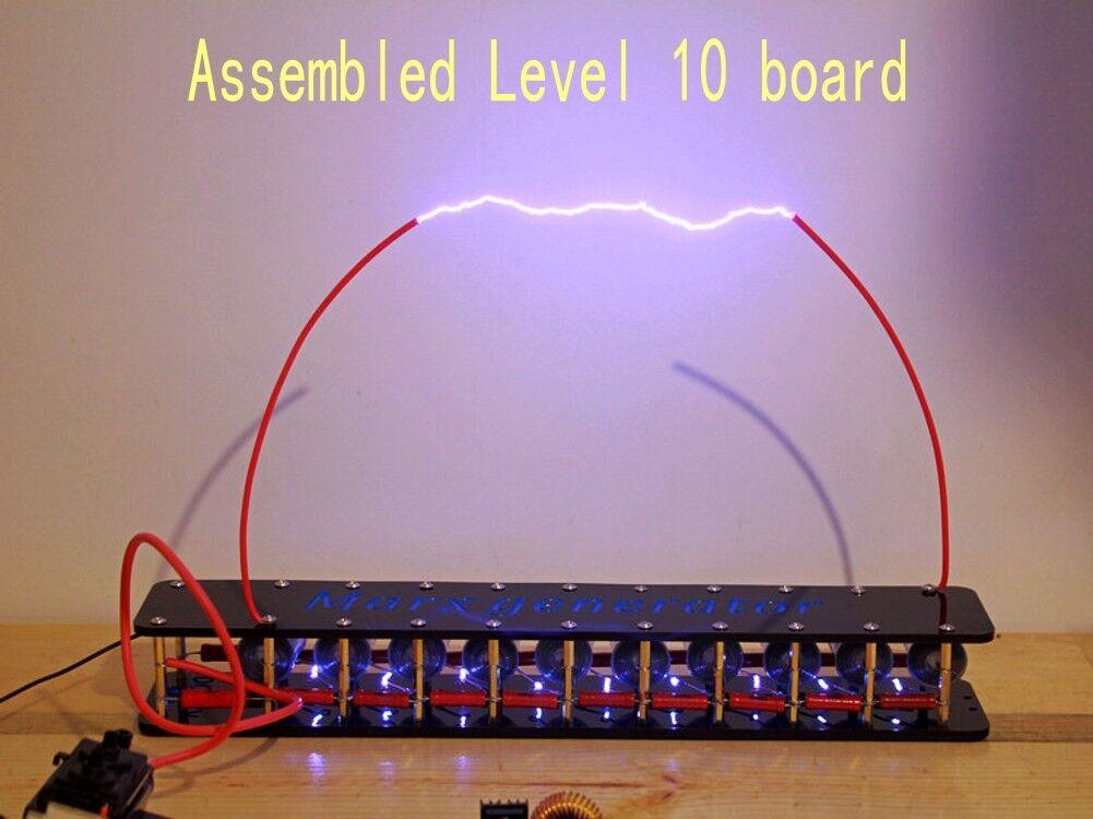 Assembled  Level10 High Votage Marx Generator Lightning Educational Module