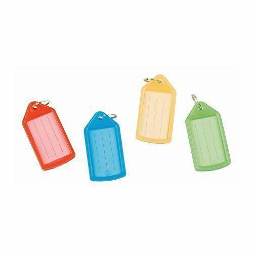 Pack of 12 Heavy Duty Coloured Sliding Key Fob Medium Assorted Pack