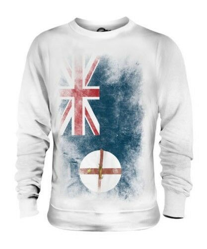 NEW SOUTH WALES FADED FLAG UNISEX SWEATER TOP WELSH SHIRT JERSEY GIFT
