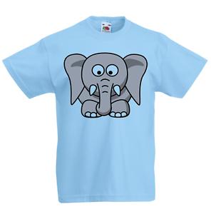 Elefante CARTOON RAGAZZO T-shirt Bambini Ragazzi Ragazze Unisex Top