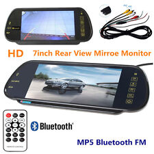 2 AV 7Inch TFT LCD Screen MP5 SD USB Bluetooth Car HD Rear View Monitor Camera