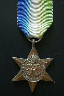 MEDAL RIBBON-OLD SILK RIBBON FOR THE BRITISH WW2 ATLANTIC STAR MEDAL