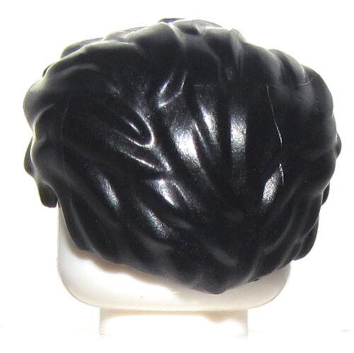 Lego New Black Swept Back Minifigure Hair Tousled Wig Male Guy Figure Piece