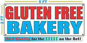 GLUTEN FREE BAKERY BANNER Sign NEW Larger Size Best Quality for the $$$
