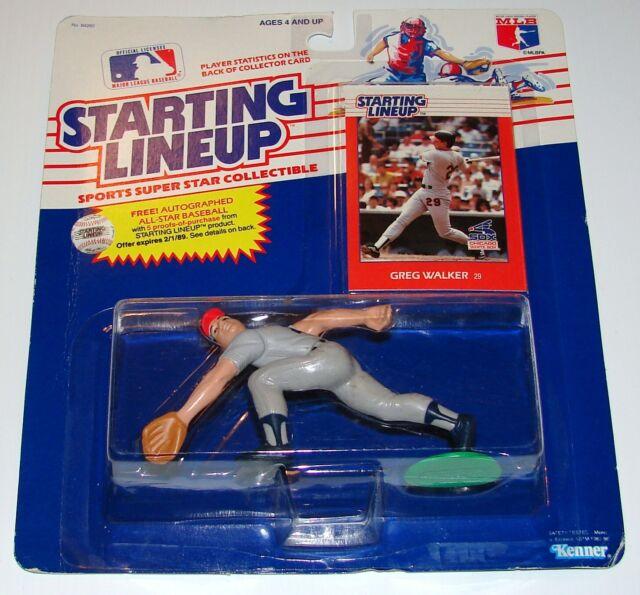 Starting Lineup Greg Walker Offer MLB Baseball Figure - Card MOC Kenner 1988