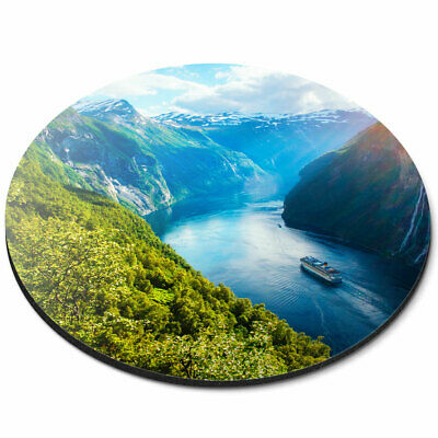 Landscape Fun Travel Gift Computer #13012 Beautiful Norway Fjord Mouse Mat Pad