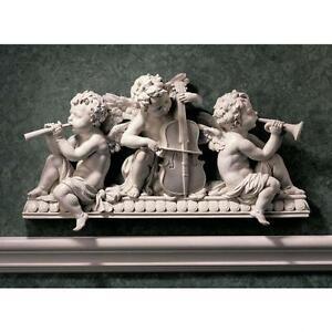 Baroque-Musical-Cherubs-Architectural-Wall-Pediment-Doorway-Angels-Replica