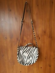 AND-OR-JOHN-LEWIS-HANDBAG-Zebra-Print-Pony-Skin-Real-Leather-Crossbody-Bag-VGC
