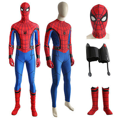 Spider-Man Homecoming Cosplay Costume Spiderman Jumpsuit Superhero ...