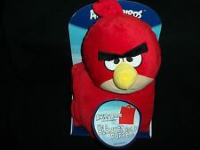 "Angry Birds Red Bird Blanket and Puppet 28"" x 40"" New Unused"